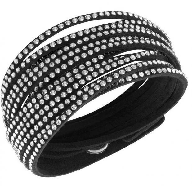 swarovski 5120197 dames armband leer. Black Bedroom Furniture Sets. Home Design Ideas