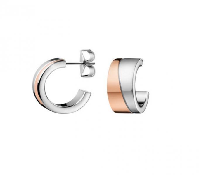 geeignet für Männer/Frauen bieten Rabatte gesamte Sammlung Calvin Klein KJ06PE200100 dames creolen staal / rose